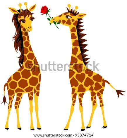Giraffe Cartoon Stock Photos Royalty Free Images