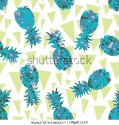 pattern background silhouette banderitas seamless pineapple shutterstock