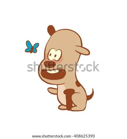 Cute Cat Fish Bone Vector Stock Vector 58856353 Shutterstock
