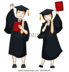 graduate boy illustration vector graduation cartoon student shutterstock graduating vectors happy diploma pic royalty preview illustrations