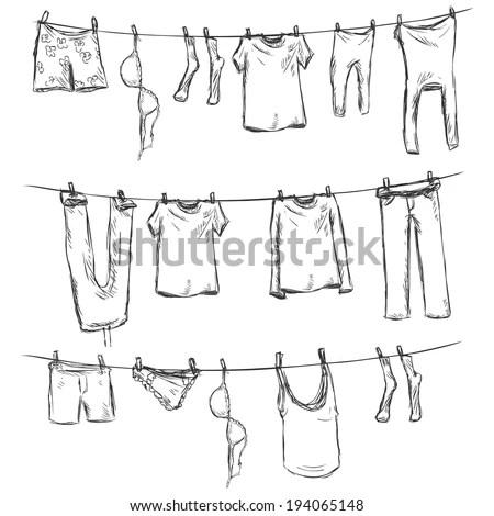 Clothes Line clip art Free Vector / 4Vector
