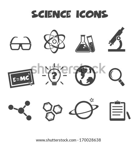 Vector Images, Illustrations and Cliparts: science icons