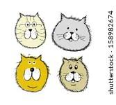 Katze Hund Skizze Clip Art Vektor Katze Hund Skizze 735