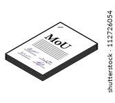 Memorandum of Understanding Clip Art, Vector Memorandum of