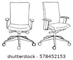 office chair illustration kids soft free vector art 5705 downloads set chairs isolated on white background sketch different