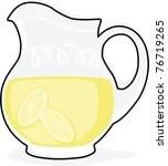 lemonade pitcher vector