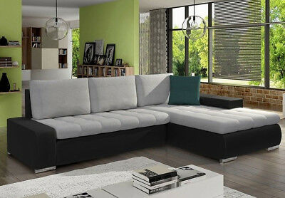 corner sofa bed oslo mini storage container sleep function new gray with chaise black zeppy io orkan universal side