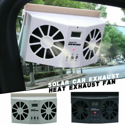 solar car exhaust heat exhaust fan 2w double air outlet car auto cooler zg home improvement heating cooling air