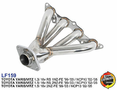 toyota yaris trd exhaust brand new camry for sale philippines vitz zeppy io header manifold 1 3i 5i ncp10 ncp13 1nz fe