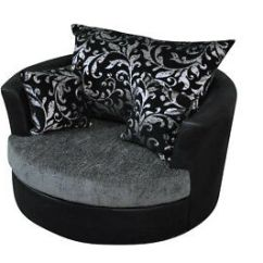 Snuggle Sofa And Swivel Chair Leon S Grey Sectional Bed Zeppy Io Large Round Cuddle Chenille Fabric Black Love