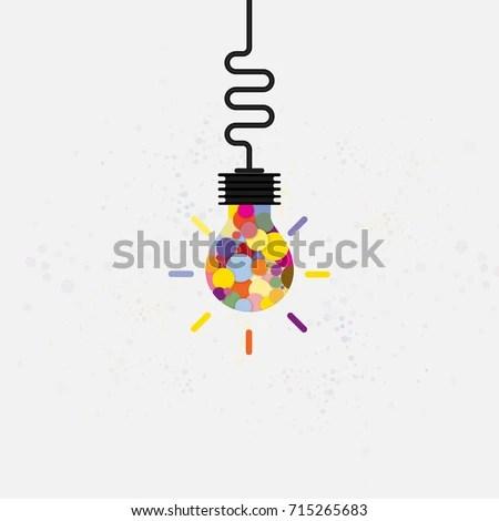 Creative Light Bulb Concept Background Design Stock Vector