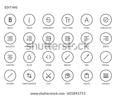Text Editing User Interface Ui Vector Stock Vector