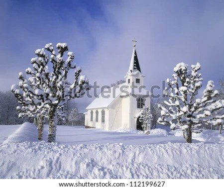 winter landscape with countryside