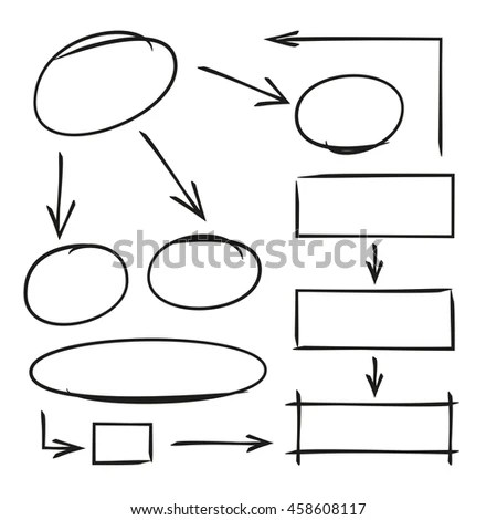5 Circular Sequences Diagram Business Process Stock Vector