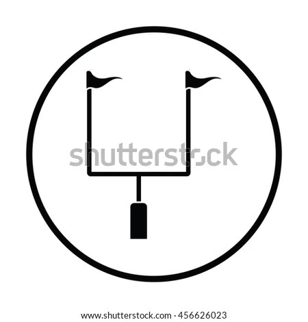 American Football Goal Post Icon Black Stock Vector