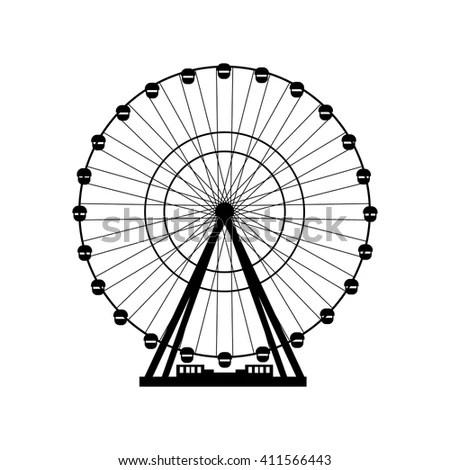 Ferris Silhouette Circle Carnival Funfair Background