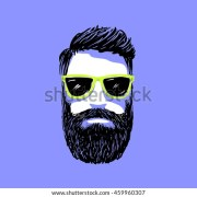 hipster fashion bearded man portrait