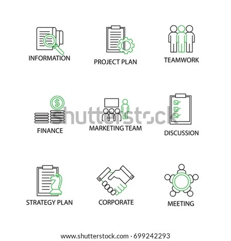 Online Education Elearning Iconsvector Eps10 Stock Vector