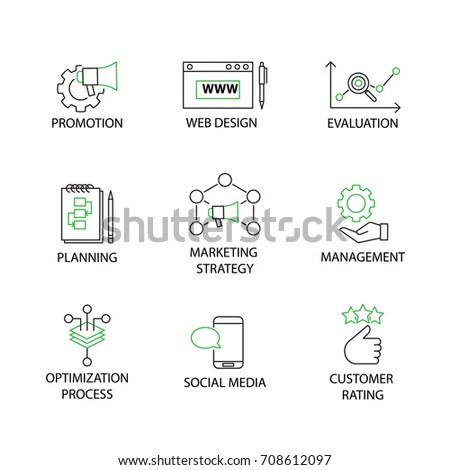 Vector Icon Set Artificial Intelligence Ai 스톡 벡터 403919554