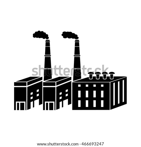 Factory Vector Old Brick Industrial Architecture Stock