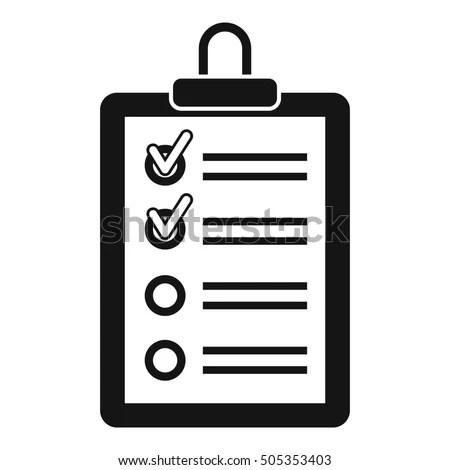 Car Maintenance List Icon Stock Vector 600578327