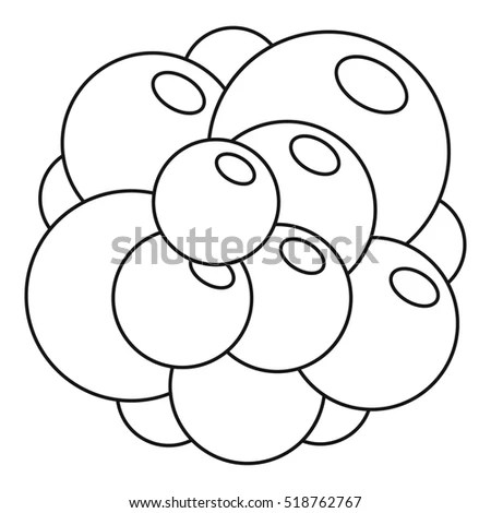 Duck Big Easter Egg Coloring Page Stock Illustration