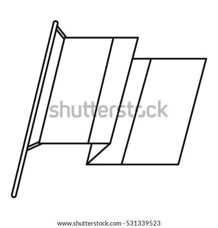 Wrap Sandwich Packaging Box Diecut Pattern Stock Vector