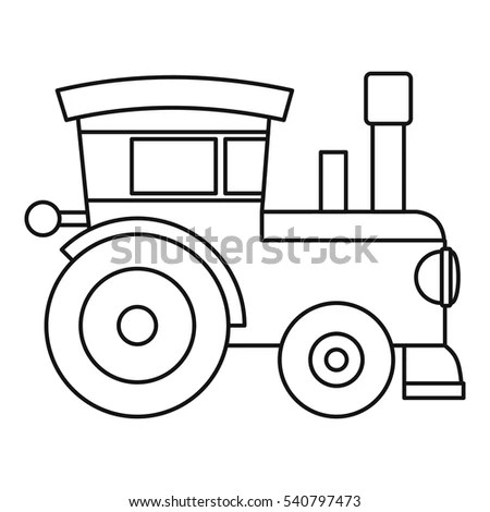 Blue Cartoon Train Chugging Along Room Stock Illustration
