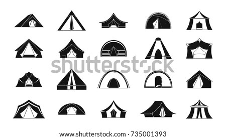 Yellow Tent Icon Cartoon Style On Stock Vector 478109425