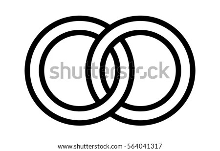 Two Connected Circles Infographic Design Vector Stock