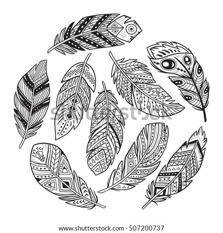Shutterstock Adult Feather Coloring Pages