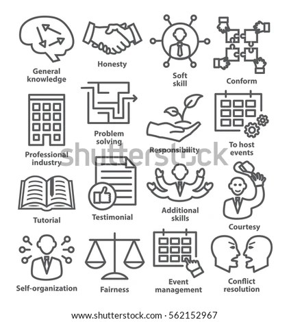 Life Protection Icons Blue Series Stock Vector 259114757