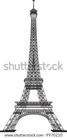 Hand Drawn Vector Illustration Eiffel Tower Stock Vector