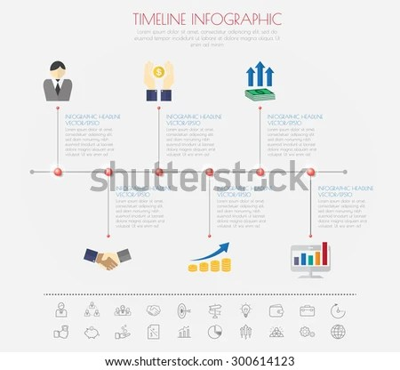 Business Concept Timeline Infograph Template Realistic
