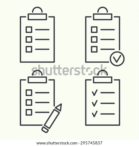 Notebook Do List Lines Check Boxes Stock Vector 213448414
