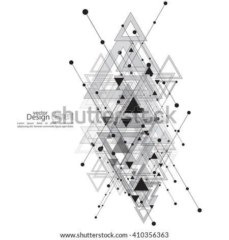 Abstract Vector Background Geometric Shapes Intersecting