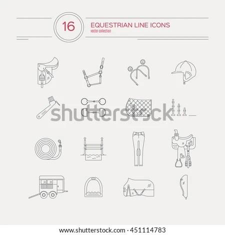 Orthopedic Trauma Rehabilitation Line Icons Crutches Stock