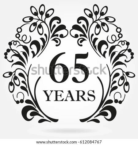 55 Years Anniversary Icon Ornate Frame Stock Vector