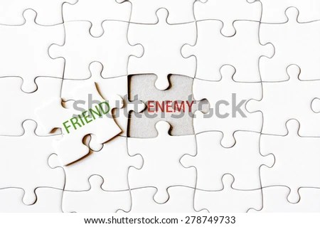 Puzzle Pieces Business Terms Written On Stock Illustration