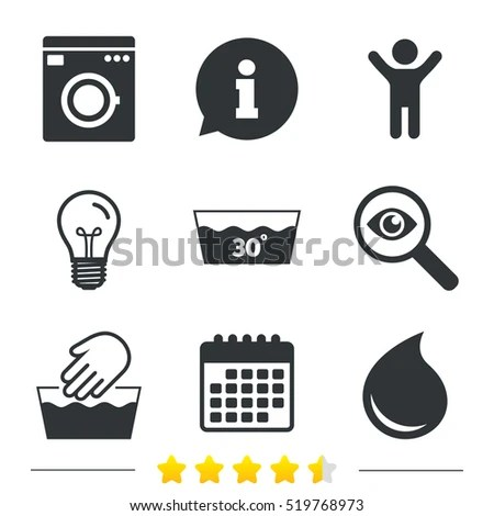 Wash Machine Icon Hand Wash Tshirt Stock Vector 272922413