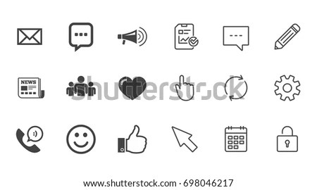 Communication Icons Contact Mail Signs Email Stock