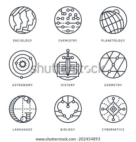 Illustrations Logo Templates Fundamental Science