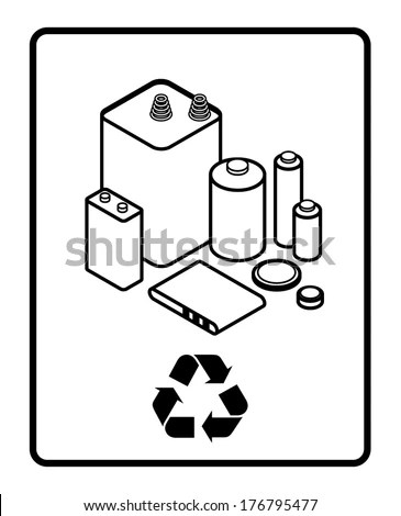 Crosssection Cutaway Diagram Dry Cell Battery Stock Vector