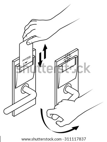 Manual Credit Card Pos Imprinter Click Stock Vector