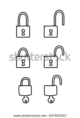 Electronic Keycard Door Opening Instructions Diagram Stock