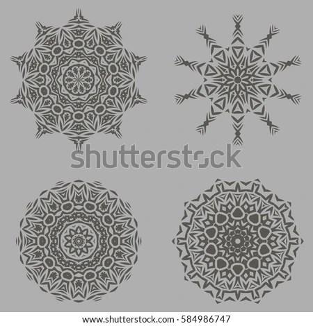 Eid Mubarak Card Arabic Design Stock Vector 156566102
