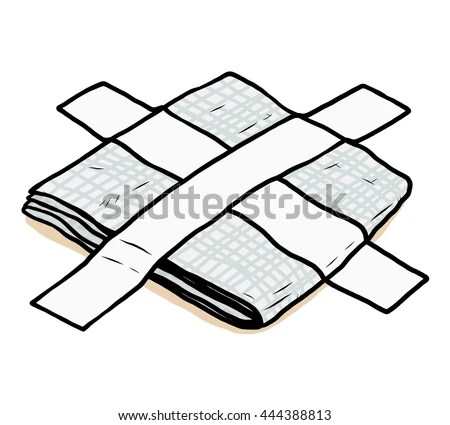 Roll Adhesive Paper Tape Cartoon Vector Stock Vector