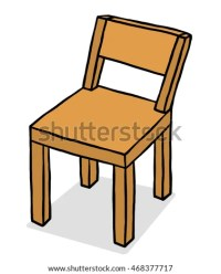 Wood Chair Isolated Illustration On White Stock Vector ...