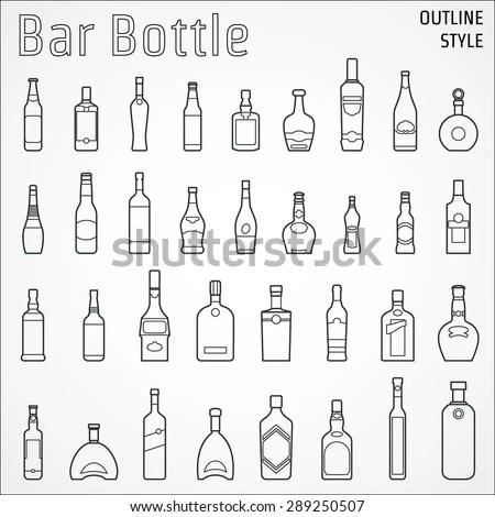 Vector Illustration Beer Outline Design Website Stock