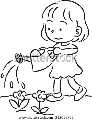 Group Children Playing Marbles Illustration Coloring Stock